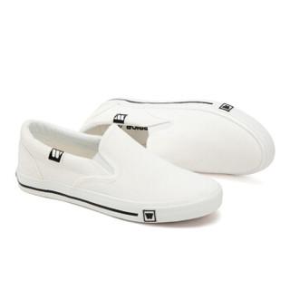 回力/warrior 经典小白鞋一脚蹬帆布鞋男女低帮情侣鞋休闲鞋学生平底板鞋开车鞋 WXY-903T 白色 35