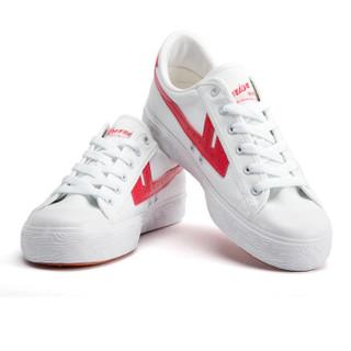 回力/Warrior 经典情侣款帆布鞋男女运动鞋男女板鞋复古潮鞋爆款潮鞋明星同款 WB-1K 红白 35