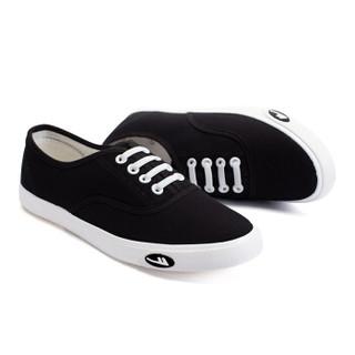 回力/Warrior 回力帆布鞋经典小白鞋女鞋韩版轻便帆布鞋回力官方正品帆布鞋 WXY-A242 黑色 38