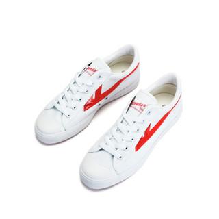 回力/Warrior 回力帆布鞋经典款男女帆布鞋小白鞋炫酷反光标回力官方正品帆布鞋 WXY-A237T 经典白红 42