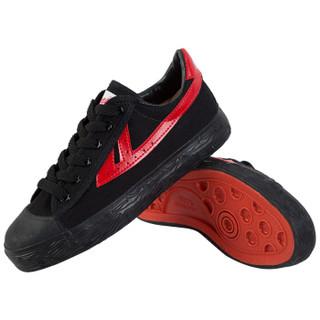 回力/Warrior 经典情侣款帆布鞋男女鞋运动鞋篮球鞋休闲鞋男女板鞋复古经典款爆款潮鞋明星同款 WB-1 红黑 36