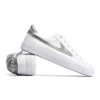 回力/Warrior 经典情侣款帆布鞋男女运动鞋男女板鞋复古潮鞋爆款潮鞋明星同款 WB-1K 灰白 44
