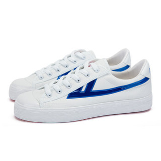 回力/Warrior 回力帆布鞋经典款男女帆布鞋小白鞋炫酷反光标回力官方正品帆布鞋 WXY-A237T 闪耀白蓝 43