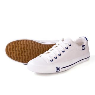 回力/warrior 回力经典帆布鞋男女低帮情侣小白鞋休闲鞋学生平底板开车鞋 WXY-709 白色 35