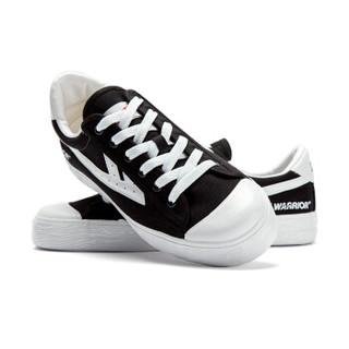 回力/Warrior 回力官方旗舰店回天之力姊妹版CHAPING联名首发ins超火帆布鞋 WB-1L 炫酷黑白 34