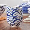 贺川屋餐具套装日式汤盅蛋羹炖盅(3.5英寸)陶瓷小汤碗(4只装) 海浪 *6件 114.8元(合19.13元/件)