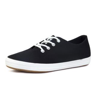 回力/Warrior 经典小白鞋女鞋糖果色学生帆布鞋女生平底小白鞋低帮鞋休闲鞋 WXY-803T 黑色 35