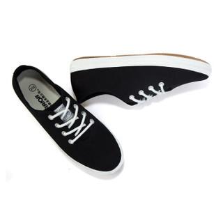 回力/Warrior 经典小白鞋女鞋糖果色学生帆布鞋女生平底小白鞋低帮鞋休闲鞋 WXY-803T 黑色 36