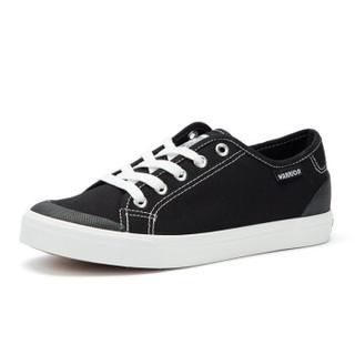 回力/Warrior 春夏新款情侣款帆布鞋学生平跟白色女鞋平底低帮休闲鞋子 WXY-805T/806T 男款黑色 42