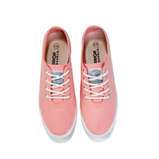 回力/Warrior 经典小白鞋女鞋糖果色学生帆布鞋女生平底小白鞋低帮鞋休闲鞋 WXY-803T 粉色 39