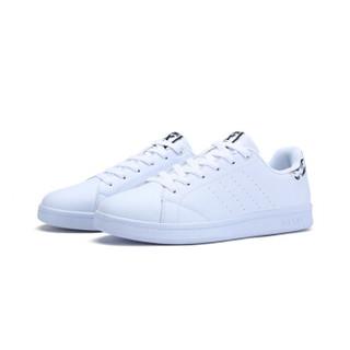 特步情侣板鞋休闲舒适滑板鞋小白鞋983219319266白灰41码