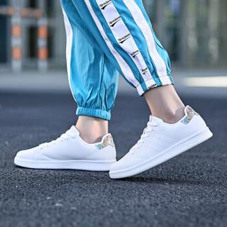 特步情侣鞋板鞋男小白鞋休闲鞋经典滑板鞋潮流时尚 982318319297 白红-女 37码