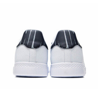 361度2018秋季新品板鞋男休闲百搭小白鞋 671836606-3 361度白/乌黑色 41
