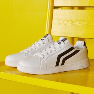 ERKE 鸿星尔克 52118301137 女士板鞋 (正白/正黑、39)