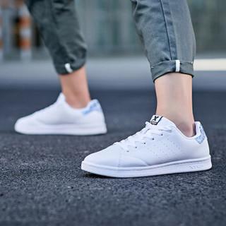 特步情侣鞋板鞋男小白鞋休闲鞋经典滑板鞋潮流时尚 982319319297 白兰-男 45码
