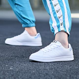 特步情侣鞋板鞋男小白鞋休闲鞋经典滑板鞋潮流时尚 982318319297 白兰-女 35码