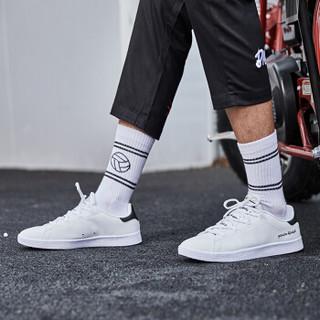 乔丹 男鞋板鞋小白鞋休闲鞋运动鞋男 XM2580311 白色/黑色 39