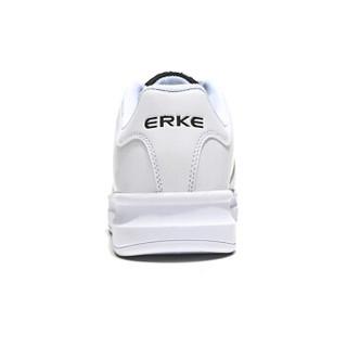 ERKE 鸿星尔克 52118301053 女士板鞋 (正白/正黑、38)