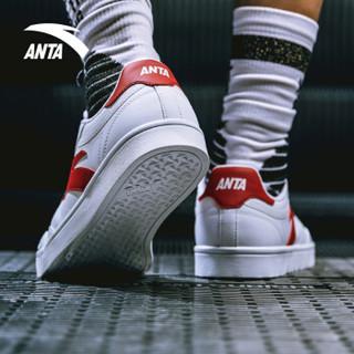 ANTA 安踏 91838002 男女运动滑板鞋 (安踏白/大红、40.5)