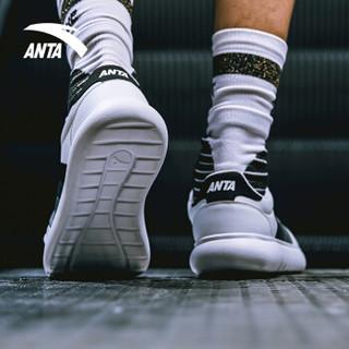 安踏 ANTA 91838005 92838005男女新款小白鞋休闲滑板鞋情侣板鞋 安踏白/黑 9.5(男43)