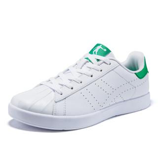 乔丹 女鞋板鞋百搭透气低帮时尚小白鞋 XM2670506 白色/苔藓绿 37.5