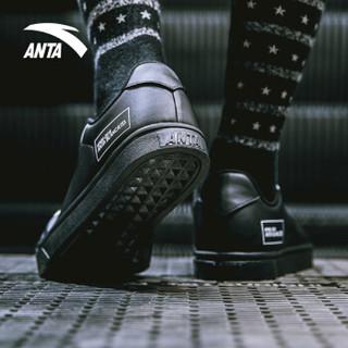 ANTA 安踏 11838063 男士板鞋 (黑/安踏白、42.5)