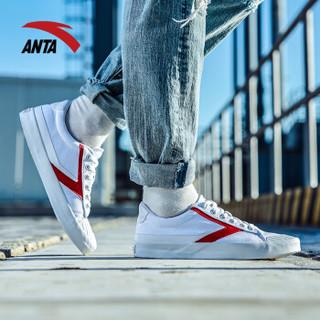ANTA 安踏 91748960 男士帆布鞋 (安踏白/大红、44.5)