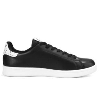 匹克(PEAK)男板鞋潮流时尚休闲运动滑板鞋百搭小白鞋 DB810087 黑色 39码