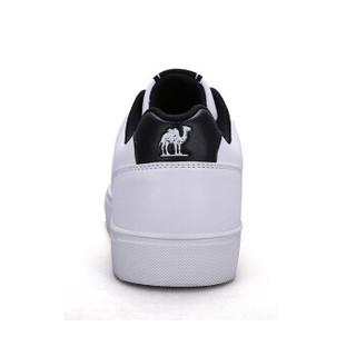 骆驼(CAMEL) 运动鞋百搭时尚轻便滑板鞋男款休闲板鞋 A732363425 白/黑 39