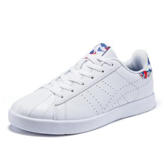 乔丹 女鞋板鞋百搭透气低帮时尚小白鞋 XM2670506 白色/新乔丹红 35.5