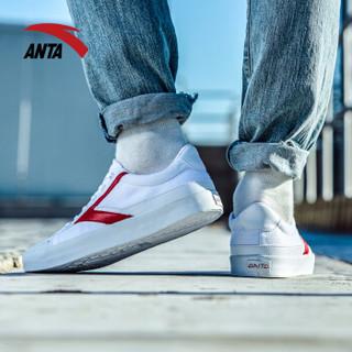 ANTA 安踏 91748960 男士帆布鞋 (安踏白/大红、40.5)