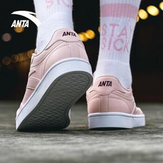 ANTA 安踏 91838002 男女运动滑板鞋 (婴儿粉/树莓红/安踏白、37.5)