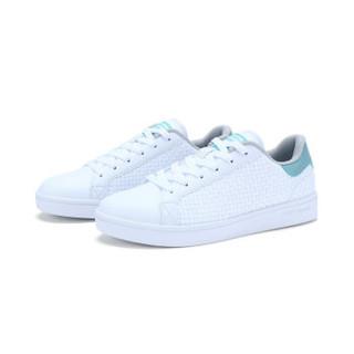 特步男子板鞋时尚休闲潮流经典低帮小白鞋982119319190白浅绿44码