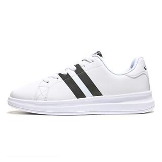 ERKE 鸿星尔克 52118301053 女士板鞋 (正白/正黑、36)