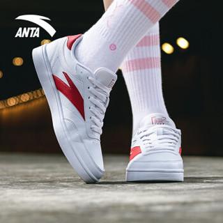 ANTA 安踏 91838002 男女运动滑板鞋 (安踏白/大红、38.5)