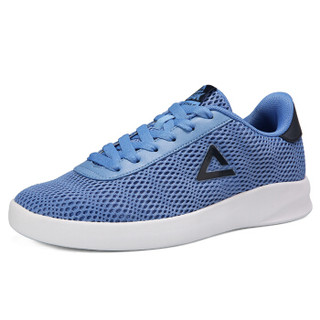 匹克(PEAK)男休闲鞋网面透气运动鞋低帮缓震防滑板鞋 DB820157 巴黎蓝 42码