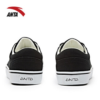ANTA 安踏 92738913 女士帆布鞋 (黑/安踏白、38)