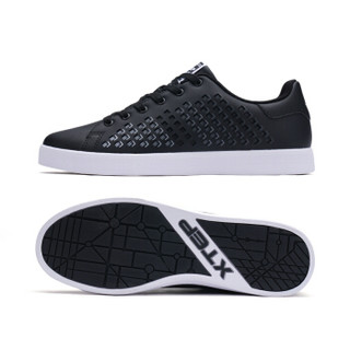XTEP 特步 982118319017 女士板鞋 (黑、35)
