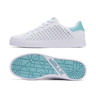 XTEP 特步 982119319017 男士板鞋 (白浅绿、43)