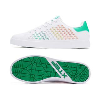 XTEP 特步 982119319017 男士板鞋 (白桔、44)