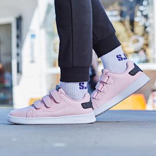 ERKE 鸿星尔克 52118301105 女士板鞋 (粉红/正黑、38)