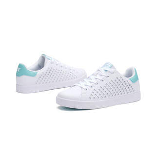 XTEP 特步 982118319017 女士板鞋 (白浅绿、37)