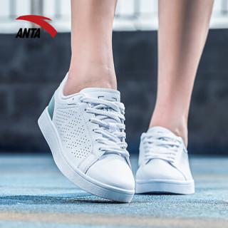 ANTA 安踏 92828001 女士滑板鞋 (安踏白/灰绿、35.5)