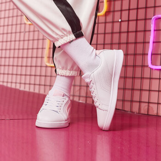 ERKE 鸿星尔克 52118301137 女士板鞋 (正白/粉红、39)