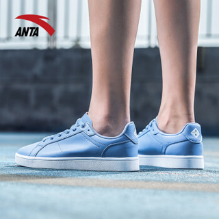 ANTA 安踏 92828001 女士滑板鞋 (粉蓝/安踏白、36)