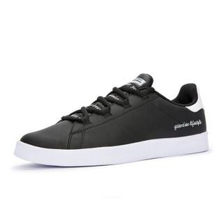 乔丹 男鞋板鞋小白鞋休闲鞋运动鞋男 XM2580311 黑色/白色 42.5