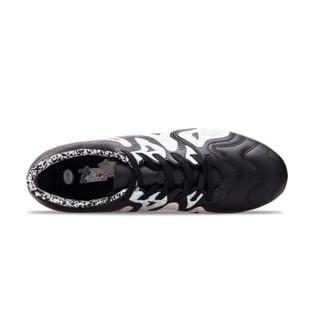 Double Star 双星 656075 男士AG短钉碎钉足球鞋 (黑白、42)