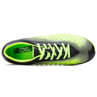 Double Star 双星 9261 男士足球训练鞋 (黑绿、44)