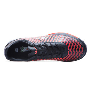Double Star 双星 668010 男士碎钉足球鞋 (黑桔红、43)
