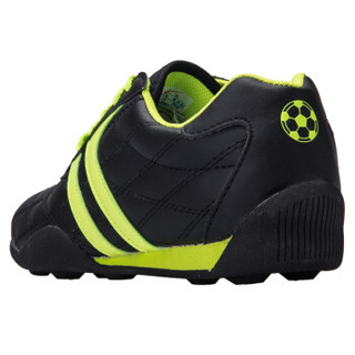 Double Star 双星 9011 儿童碎钉足球训练鞋 (黑绿、29)